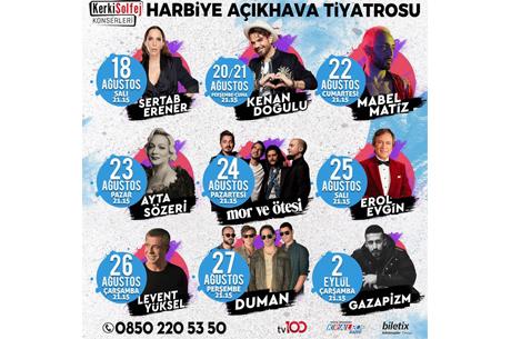 KerkiSolfej Harbiye Açıkhava Konserleri Başlıyor!!!