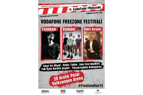 Ümit Besen Teoman ve Duman Vodafone Freezone Festivali'nde İstanbul'da Gençlerle Buluşuyor